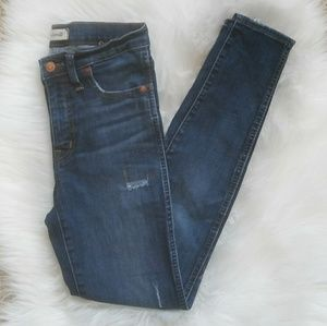 """MADEWELL 9"""" High Rise Skinny Jeans Size 26."""